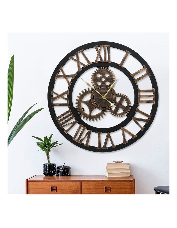 Wall Clock Extra Large Vintage Silent No Ticking Movements 3D Home Office Decor - 80cm image 6