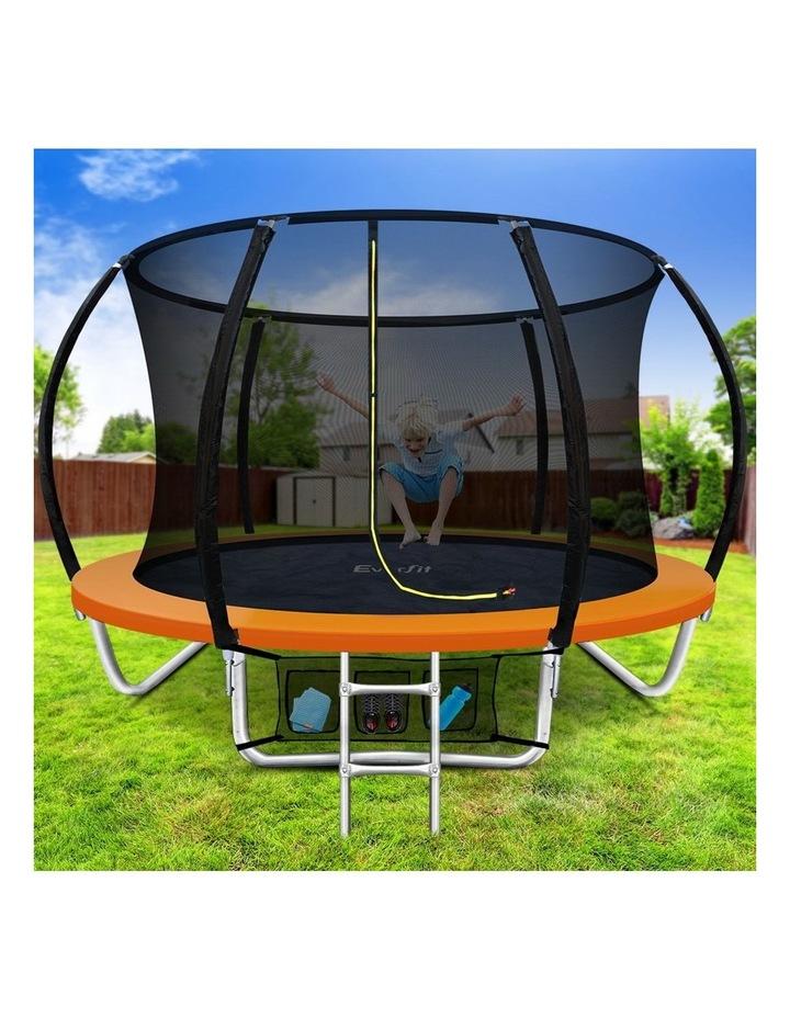 8FT Trampoline Round Trampolines Kids Enclosure Safety Net Pad Outdoor Orange image 6