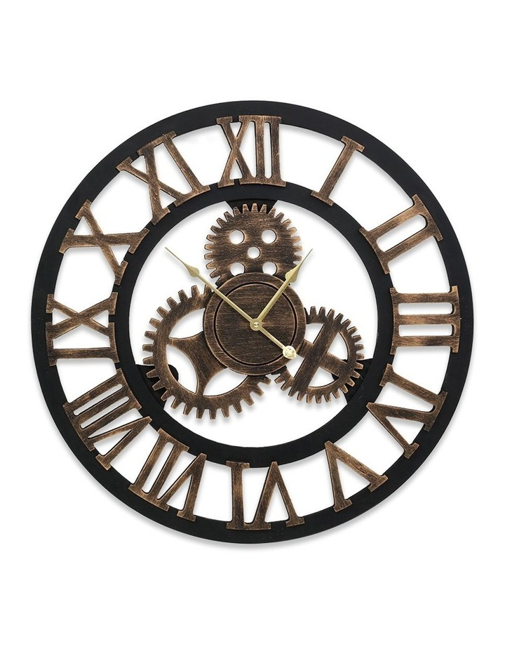 Wall Clock Extra Large Vintage Silent No Ticking Movements 3D Home Office Decor - 60cm image 1