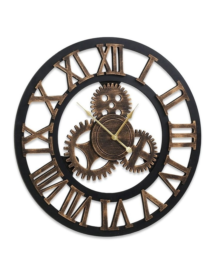 Wall Clock Extra Large Vintage Silent No Ticking Movements 3D Home Office Decor - 60cm image 3