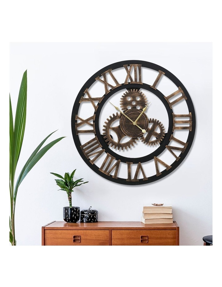 Wall Clock Extra Large Vintage Silent No Ticking Movements 3D Home Office Decor - 60cm image 6