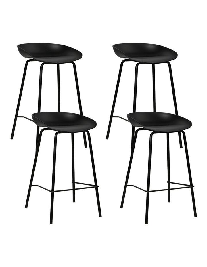 4x Kitchen Bar Stools Bar Stool Chairs Metal Black Barstools image 1