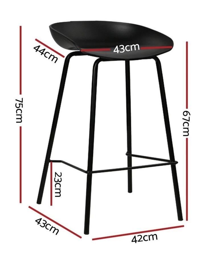 4x Kitchen Bar Stools Bar Stool Chairs Metal Black Barstools image 2