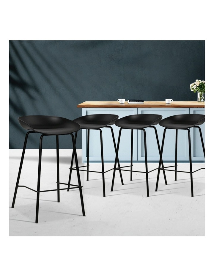 4x Kitchen Bar Stools Bar Stool Chairs Metal Black Barstools image 3