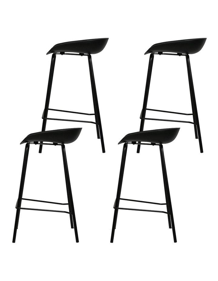 4x Kitchen Bar Stools Bar Stool Chairs Metal Black Barstools image 4