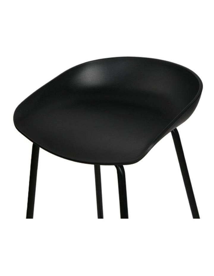 4x Kitchen Bar Stools Bar Stool Chairs Metal Black Barstools image 5