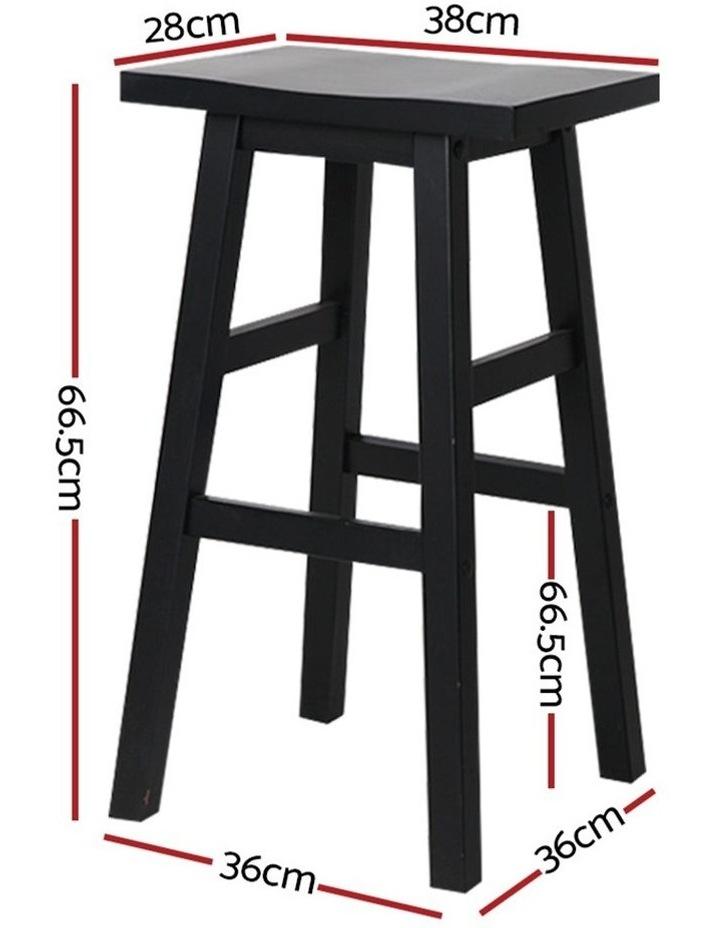 4x Wooden Bar Stools Kitchen Bar Stool Chairs Barstools Black image 2