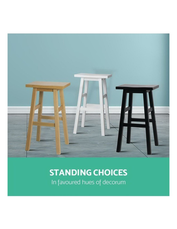 4x Wooden Bar Stools Kitchen Bar Stool Chairs Barstools Black image 7