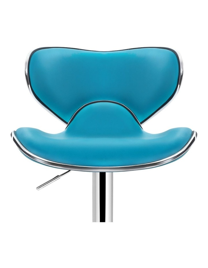 4x Kitchen Bar Stools Swivel Bar Stool Leather Gas Lift Chairs Teal image 4