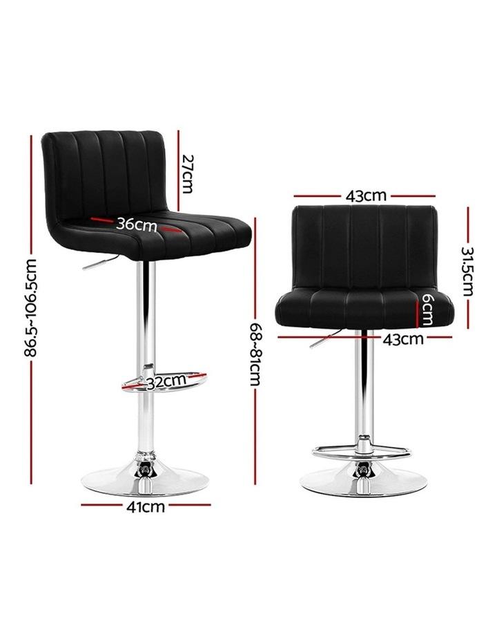 4x Leather Bar Stools Kitchen Chair Bar Stool Black Lana Gas Lift Swivel image 2