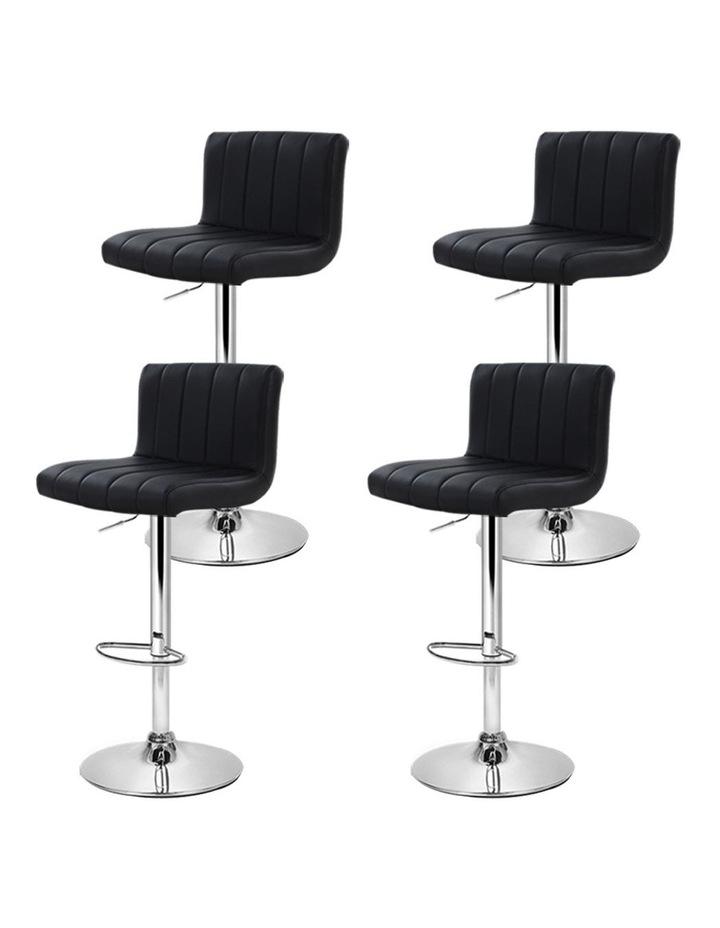 4x Leather Bar Stools Kitchen Chair Bar Stool Black Lana Gas Lift Swivel image 4