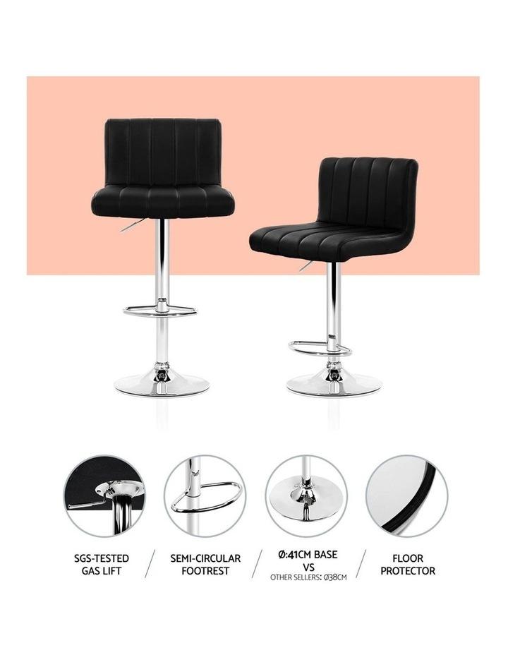 4x Leather Bar Stools Kitchen Chair Bar Stool Black Lana Gas Lift Swivel image 5