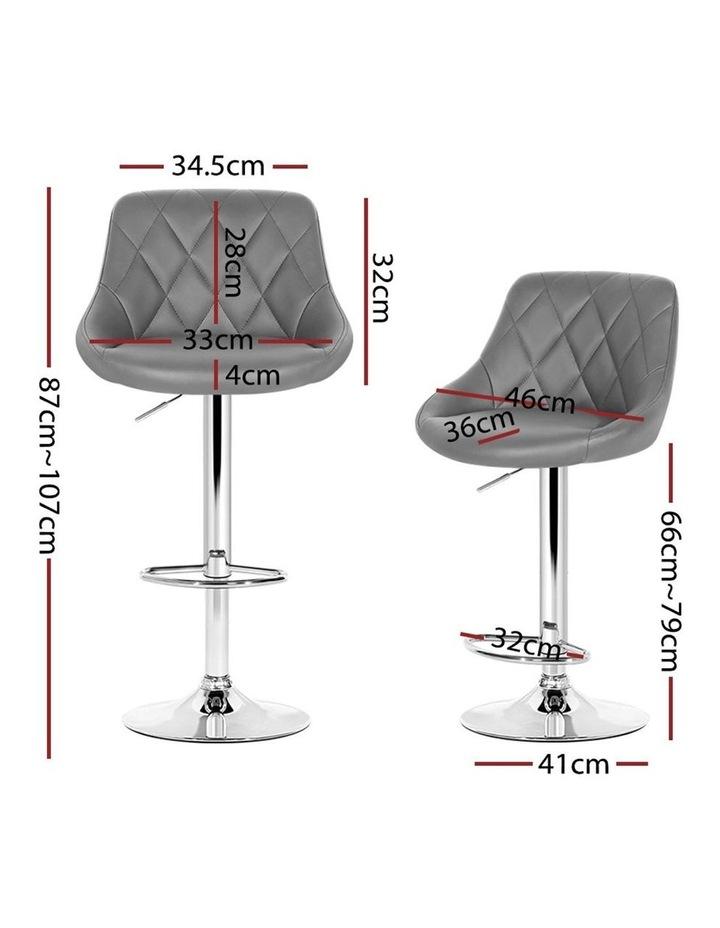4x Kitchen Bar Stools Swivel Bar Stool PU Leather Gas Lift Chairs Grey image 2