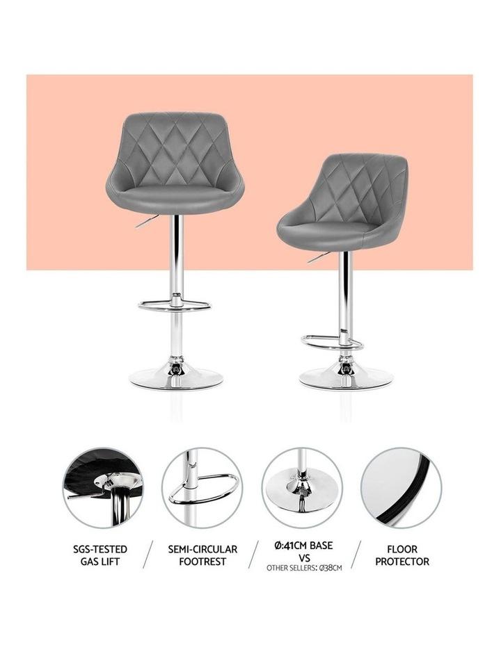 4x Kitchen Bar Stools Swivel Bar Stool PU Leather Gas Lift Chairs Grey image 5