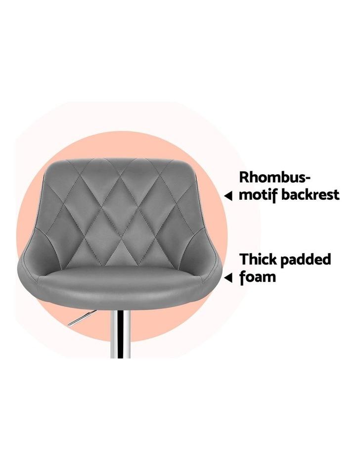 4x Kitchen Bar Stools Swivel Bar Stool PU Leather Gas Lift Chairs Grey image 6