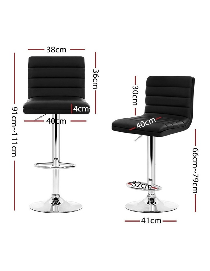 4x Leather Bar Stools ARNE Swivel Bar Stool Kitchen Chairs Black Gas Lift image 2
