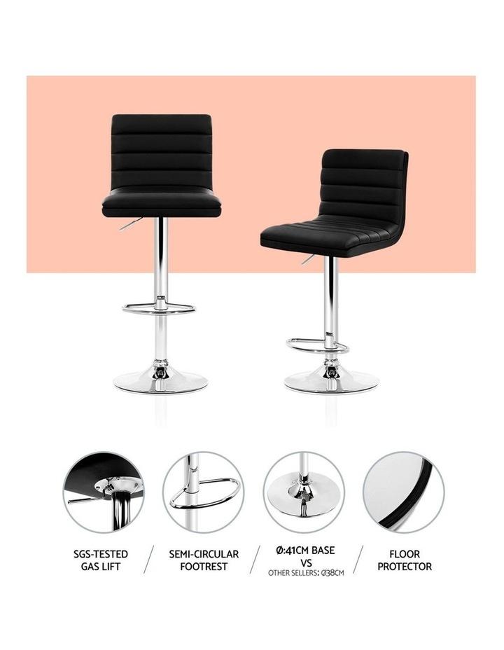 4x Leather Bar Stools ARNE Swivel Bar Stool Kitchen Chairs Black Gas Lift image 5