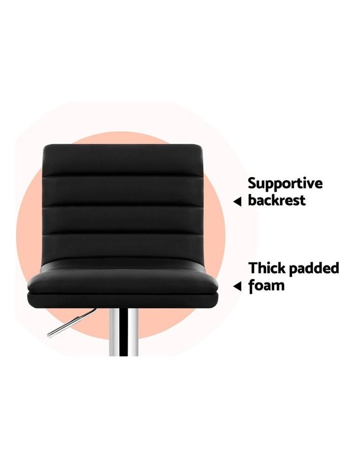 4x Leather Bar Stools ARNE Swivel Bar Stool Kitchen Chairs Black Gas Lift image 6