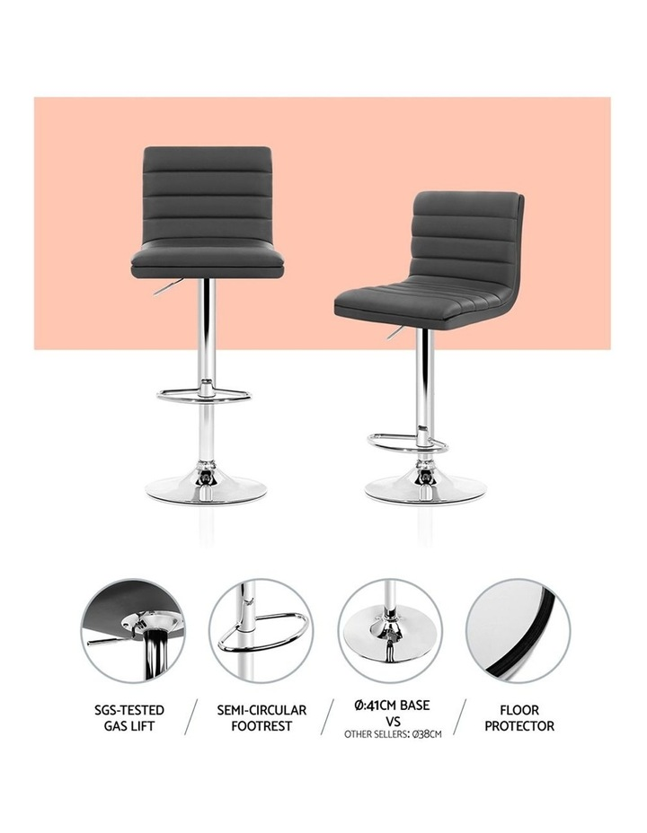4x Leather Bar Stools Swivel Bar Stool Kitchen Chairs Gas Lift Grey image 5