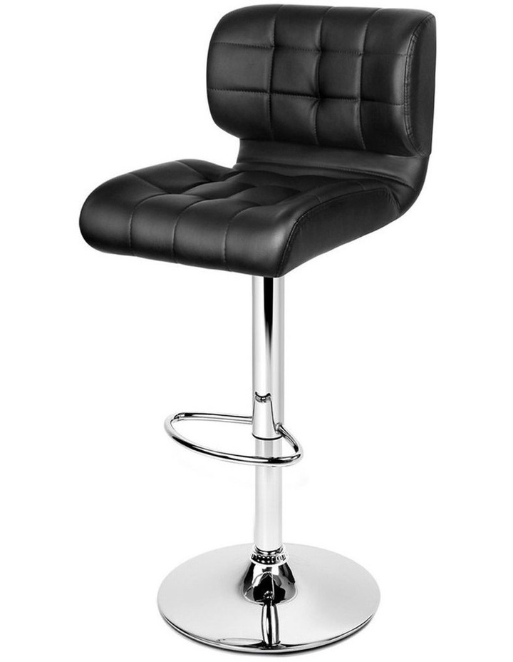 4x Bar Stools PU Leather Chrome Kitchen Bar Stool Chairs Gas Lift Black image 1