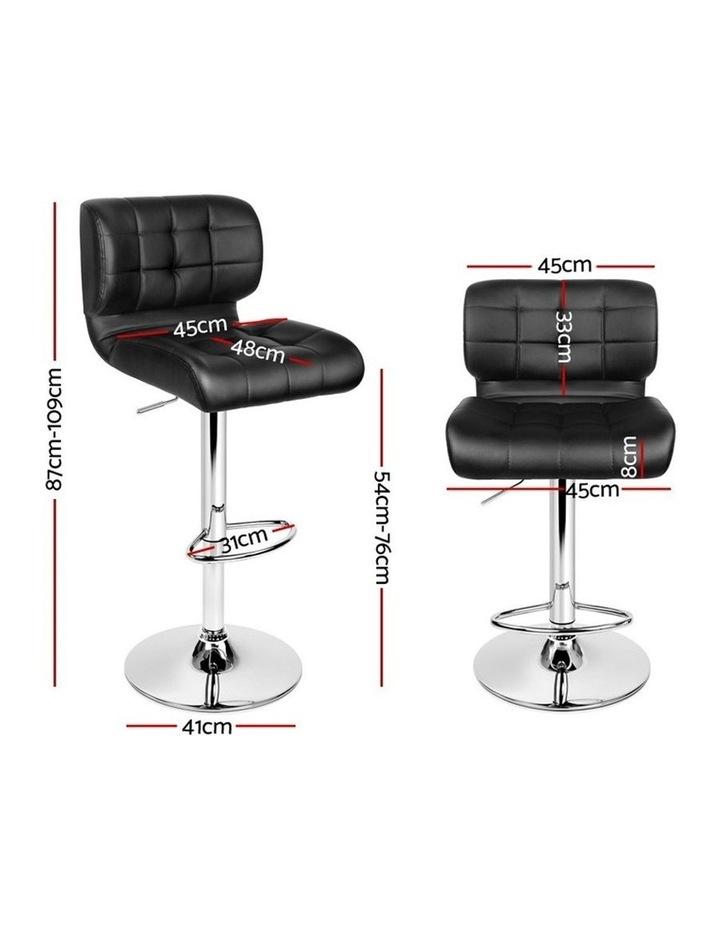 4x Bar Stools PU Leather Chrome Kitchen Bar Stool Chairs Gas Lift Black image 2