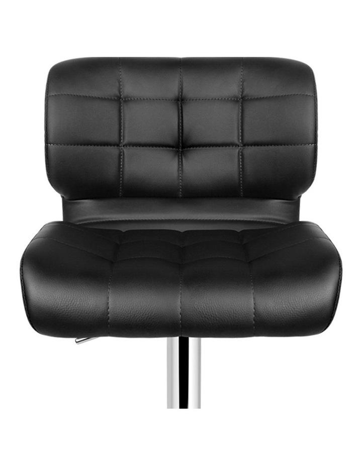 4x Bar Stools PU Leather Chrome Kitchen Bar Stool Chairs Gas Lift Black image 4