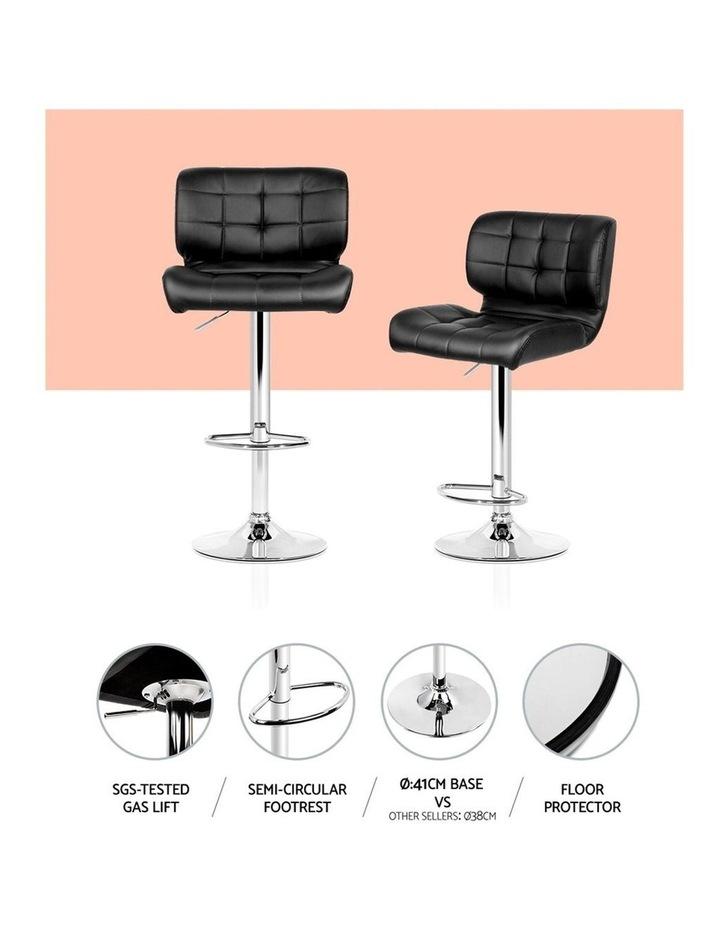 4x Bar Stools PU Leather Chrome Kitchen Bar Stool Chairs Gas Lift Black image 5