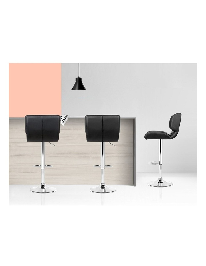 4x Bar Stools PU Leather Chrome Kitchen Bar Stool Chairs Gas Lift Black image 6