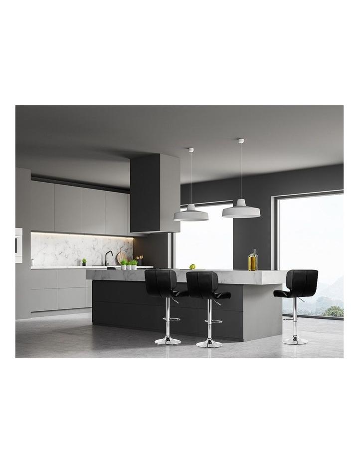 4x Bar Stools PU Leather Chrome Kitchen Bar Stool Chairs Gas Lift Black image 7