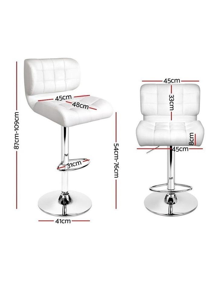 4x Bar Stools PU Leather Chrome Kitchen Bar Stool Chairs Gas Lift White image 2