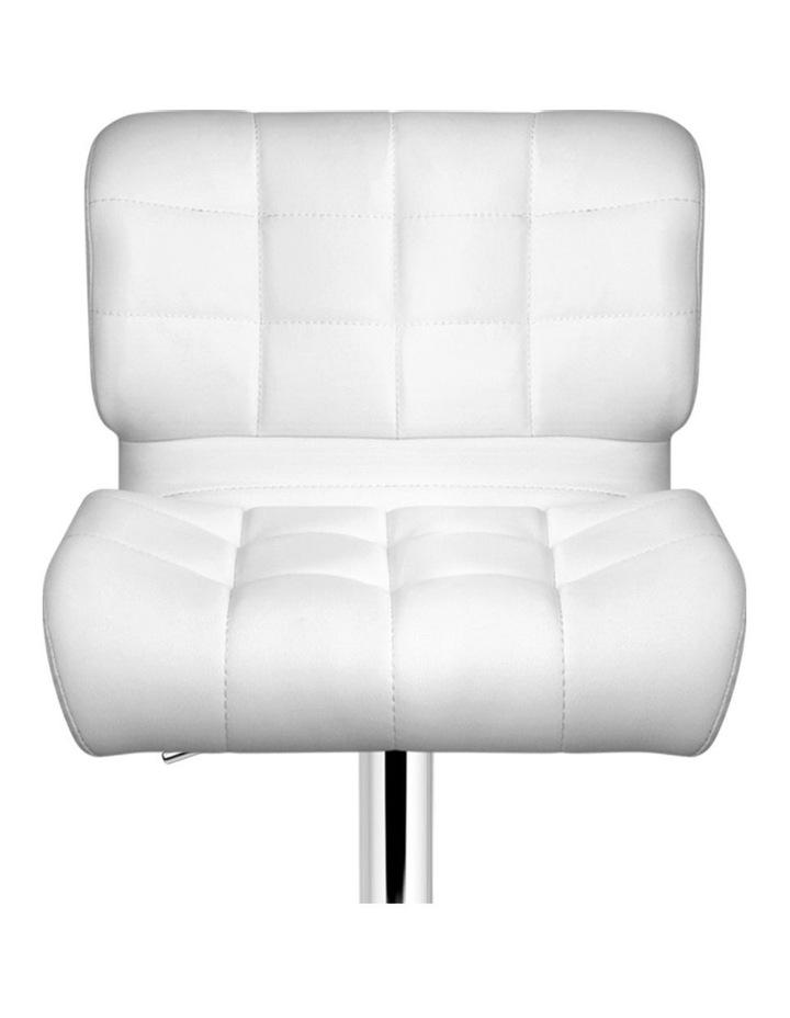 4x Bar Stools PU Leather Chrome Kitchen Bar Stool Chairs Gas Lift White image 4