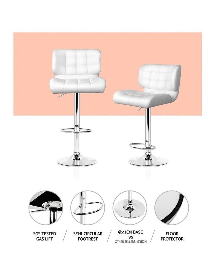 4x Bar Stools PU Leather Chrome Kitchen Bar Stool Chairs Gas Lift White image 5