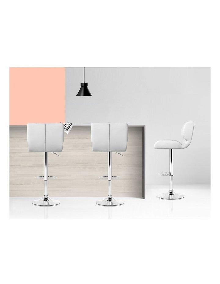 4x Bar Stools PU Leather Chrome Kitchen Bar Stool Chairs Gas Lift White image 6