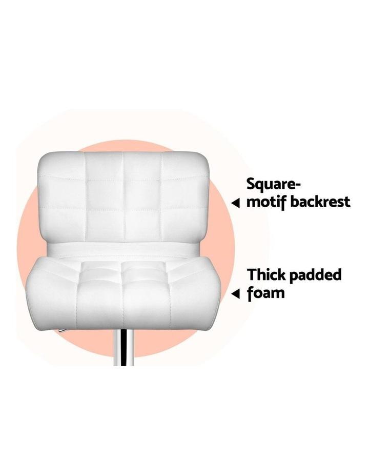 4x Bar Stools PU Leather Chrome Kitchen Bar Stool Chairs Gas Lift White image 7