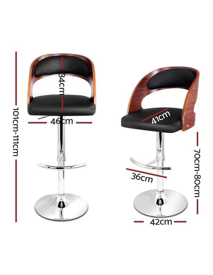 2x Wooden Bar Stools Bar Stool Kitchen Dining Chairs Gas Lift Bella Black image 2