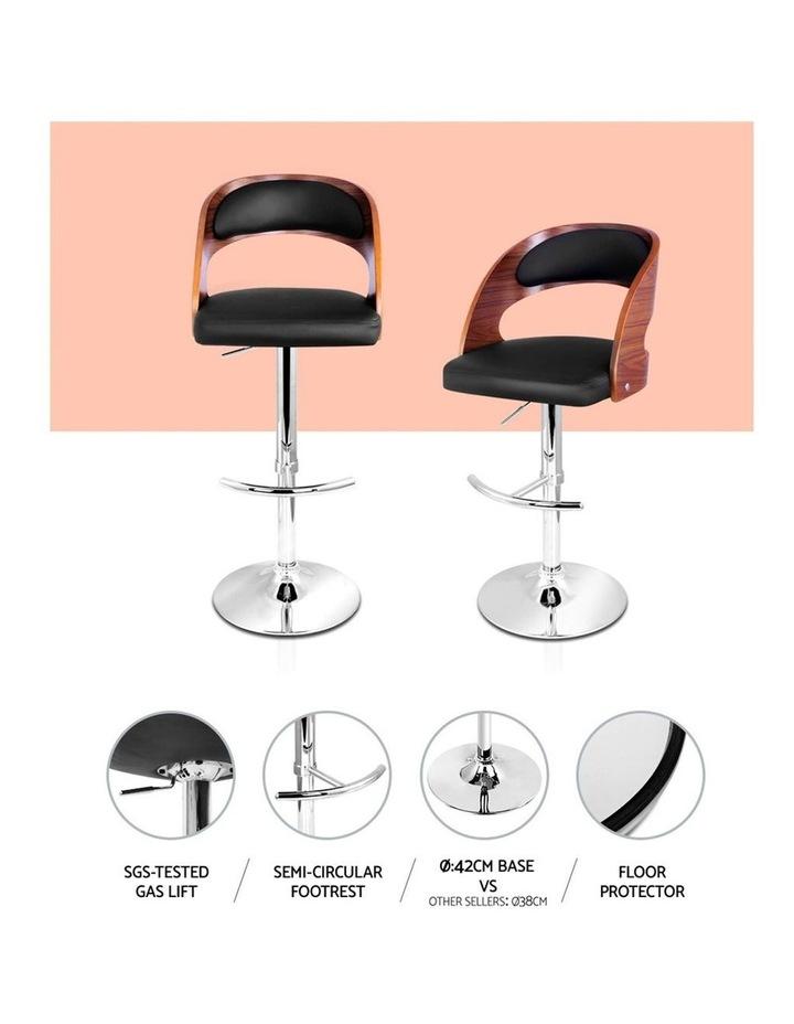 2x Wooden Bar Stools Bar Stool Kitchen Dining Chairs Gas Lift Bella Black image 5