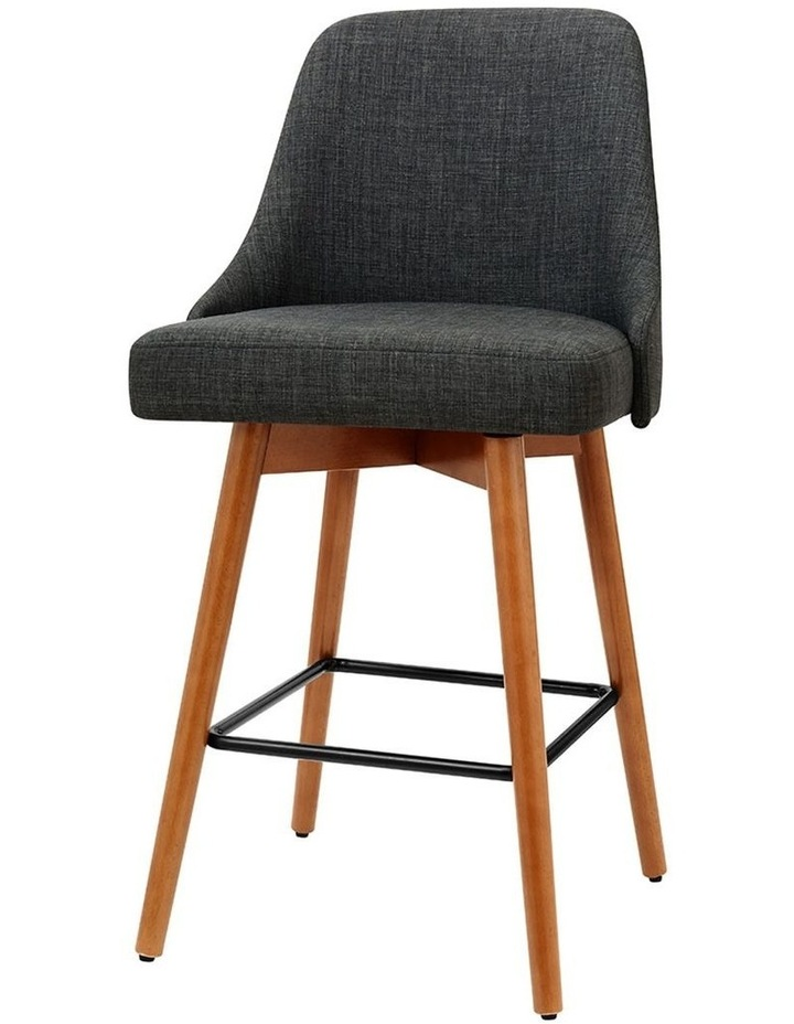 4x Wooden Bar Stools Swivel Bar Stool Kitchen Dining Chairs Cafe Charcoal image 1