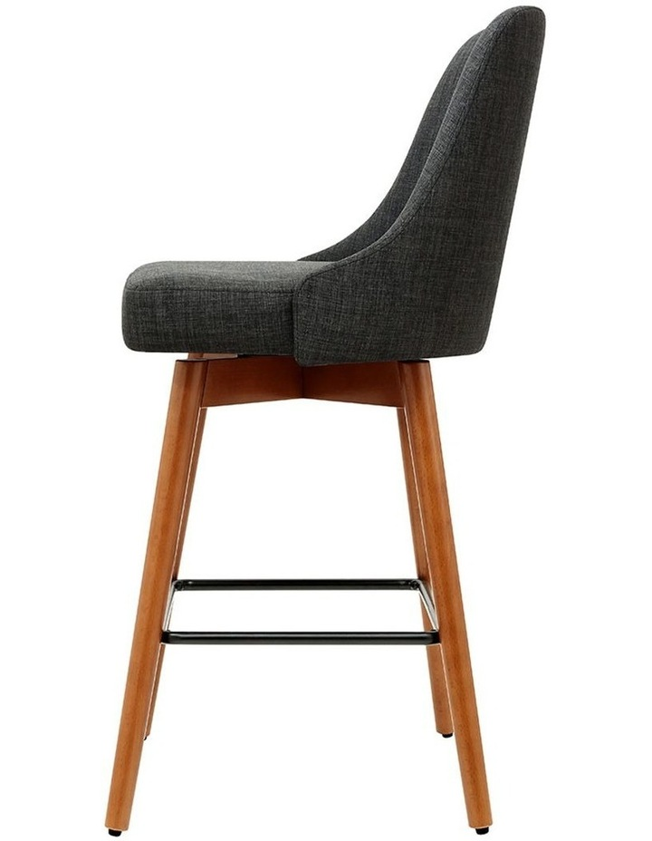 4x Wooden Bar Stools Swivel Bar Stool Kitchen Dining Chairs Cafe Charcoal image 2