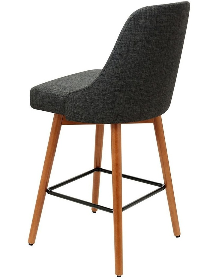 4x Wooden Bar Stools Swivel Bar Stool Kitchen Dining Chairs Cafe Charcoal image 4