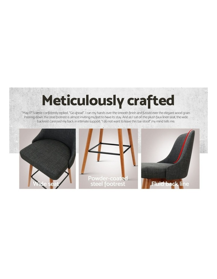4x Wooden Bar Stools Swivel Bar Stool Kitchen Dining Chairs Cafe Charcoal image 6
