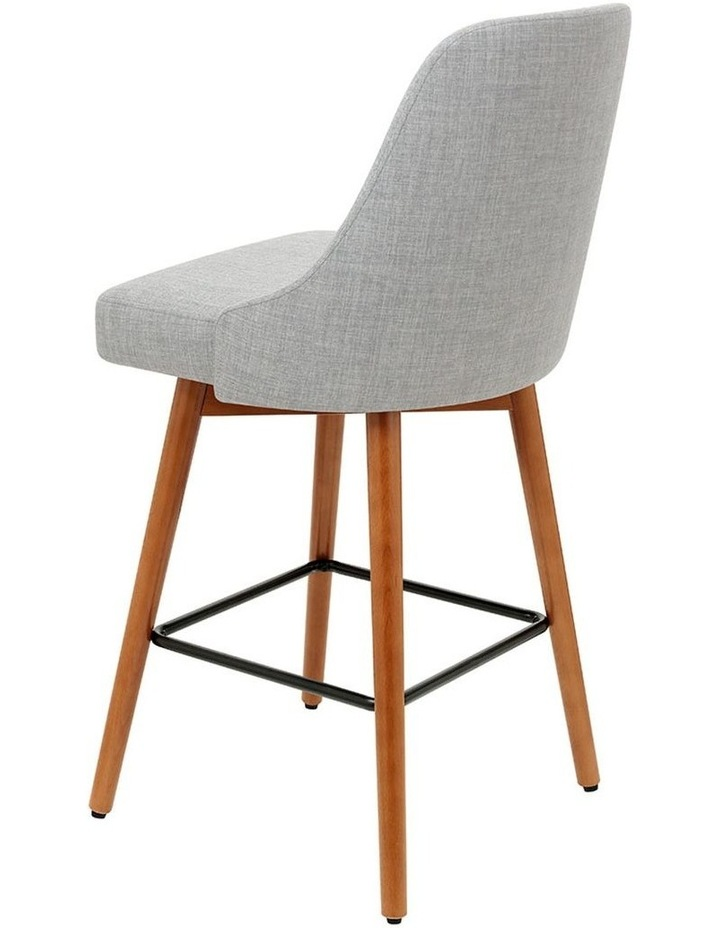4x Wooden Bar Stools Swivel Bar Stool Kitchen Dining Chairs Cafe Grey image 4