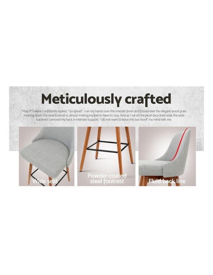 4x Wooden Bar Stools Swivel Bar Stool Kitchen Dining Chairs Cafe Grey image 6