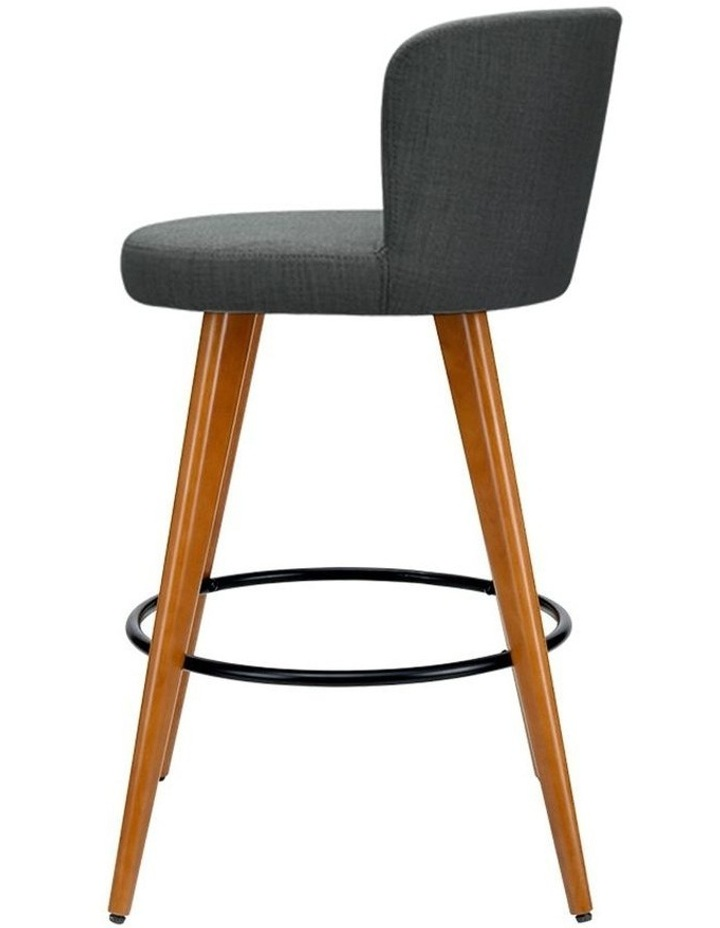 4x Wooden Bar Stools Modern Bar Stool Kitchen Dining Chairs Cafe Charcoal image 4