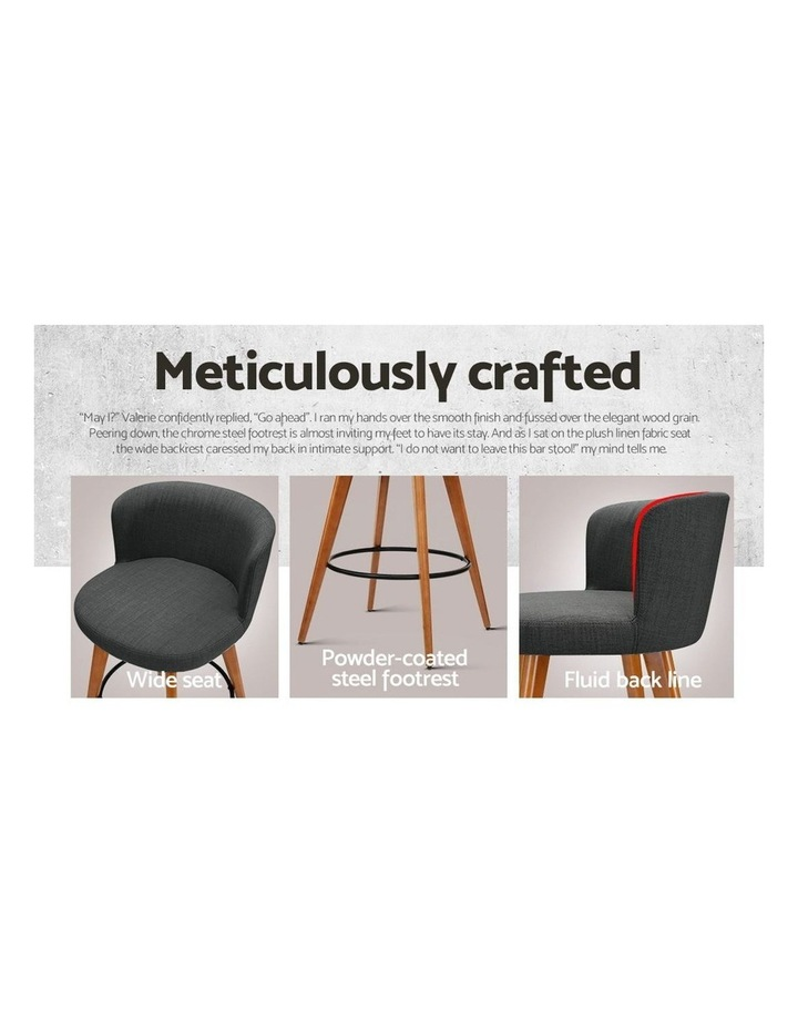 4x Wooden Bar Stools Modern Bar Stool Kitchen Dining Chairs Cafe Charcoal image 6