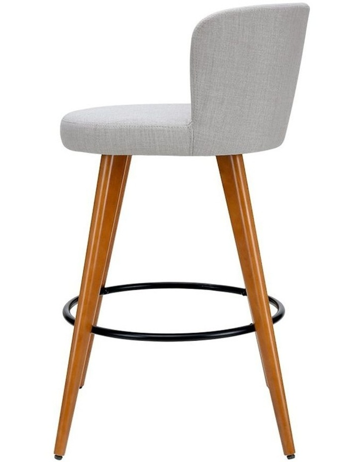 4x Wooden Bar Stools Modern Bar Stool Kitchen Dining Chairs Cafe Grey image 4