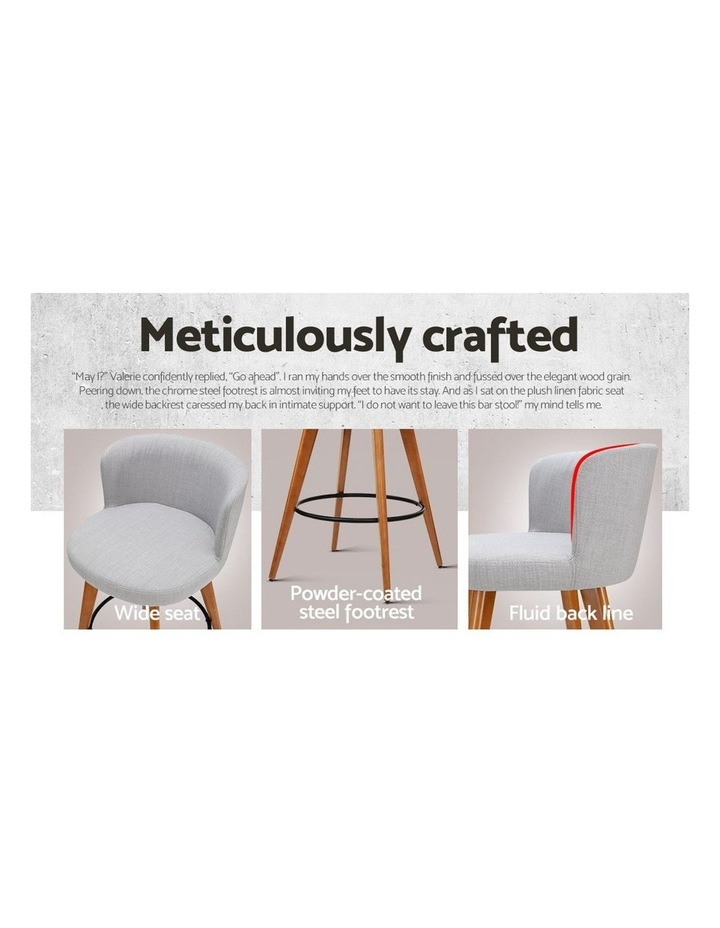 4x Wooden Bar Stools Modern Bar Stool Kitchen Dining Chairs Cafe Grey image 6