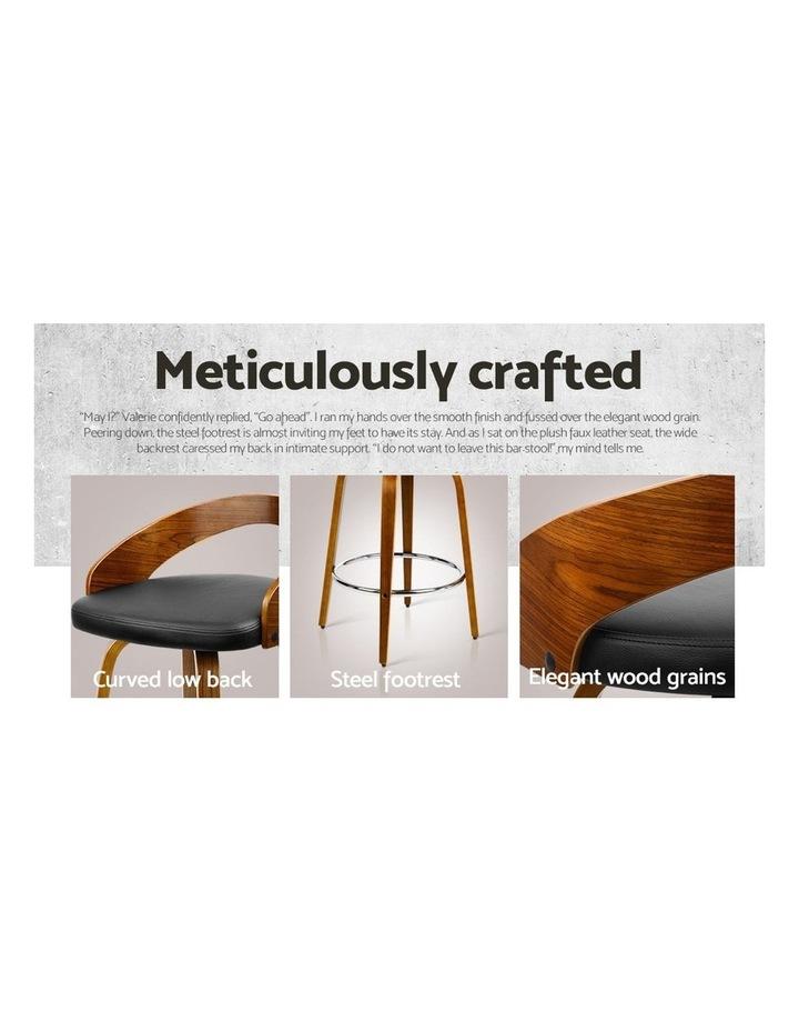 4x Wooden Bar Stools Swivel Bar Stool Kitchen Dining Chairs Wood Black image 5