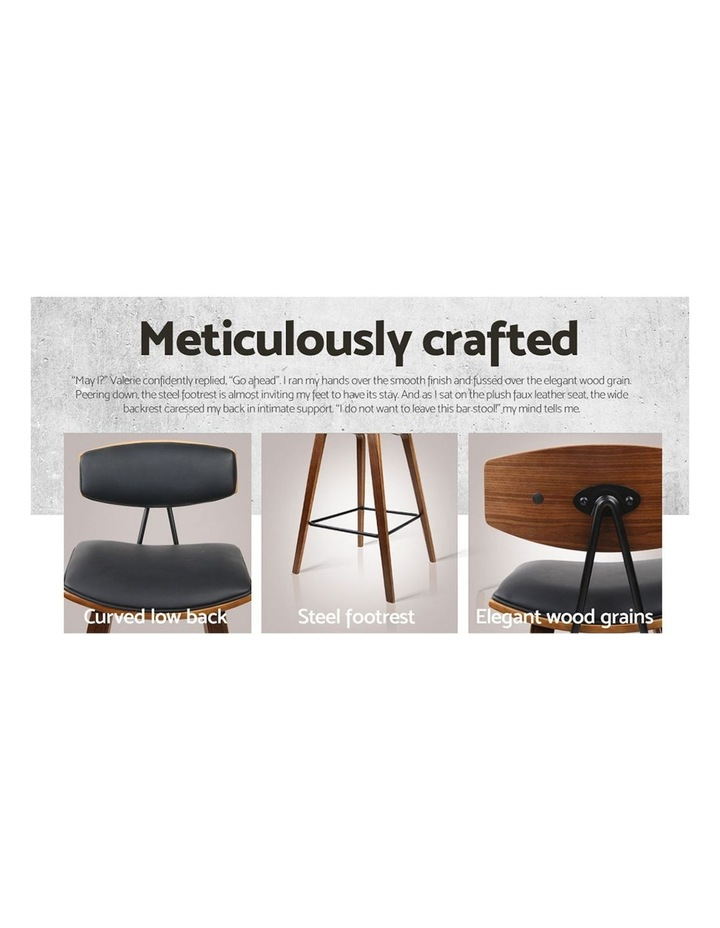 4x Wooden Bar Stools Kitchen Bar Stool Dining Chair Cafe Wood Black 8782 image 5
