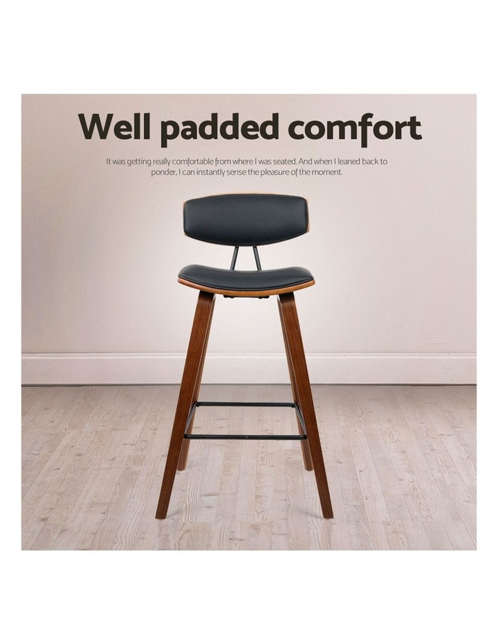 4x Wooden Bar Stools Kitchen Bar Stool Dining Chair Cafe Wood Black 8782 image 7