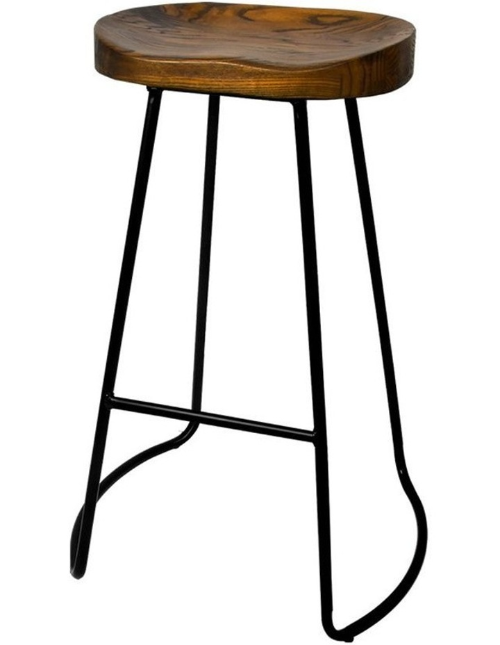 4x Vintage Tractor Bar Stools Retro Bar Stool Industrial Chairs Black 75cm image 1